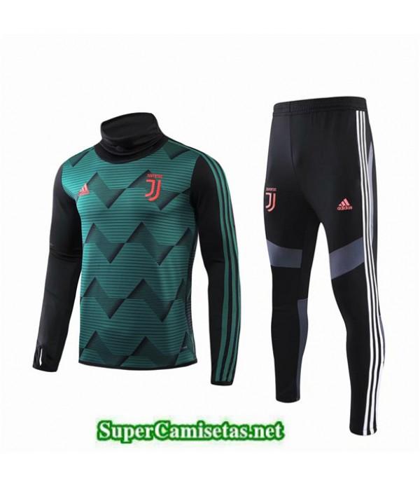 Tailandia Chandal Juventus Q017 Negro/verde Cuello Alto 2019/20