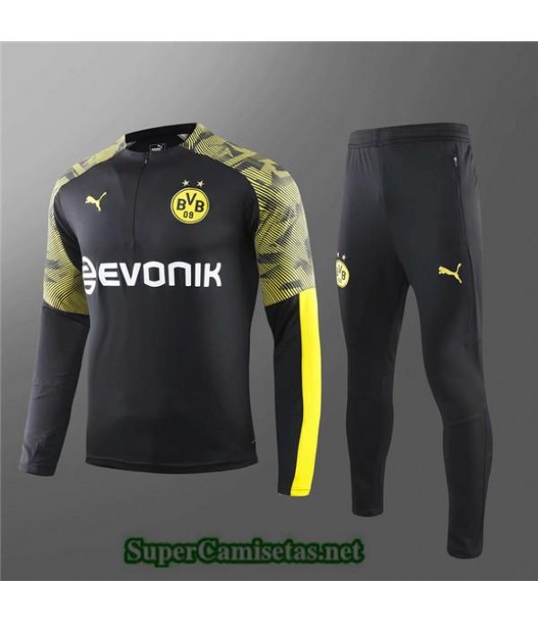 Tailandia Chandal Niños Borussia Dortmund Negro/amarillo 2019/20