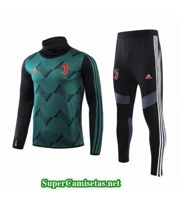 Tailandia Chandal Niños Juventus Verde/negro Cuello Alto 2019/20
