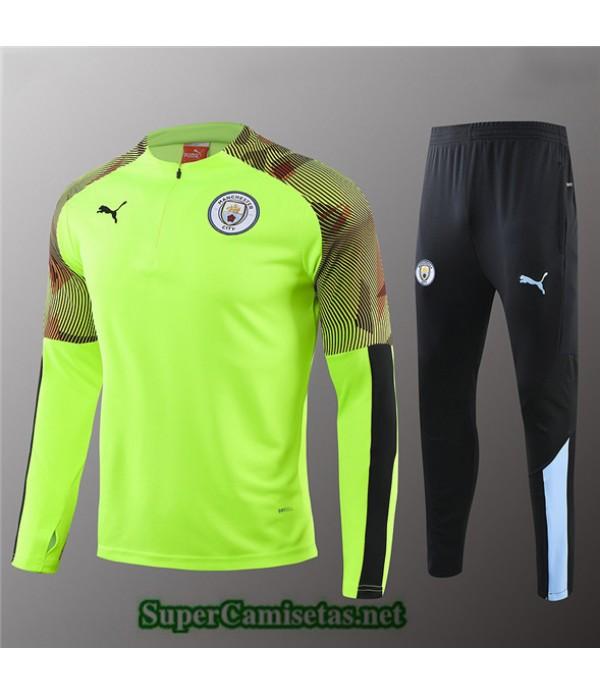 Tailandia Chandal Niños Manchester City Verde Claro/negro 2019/20