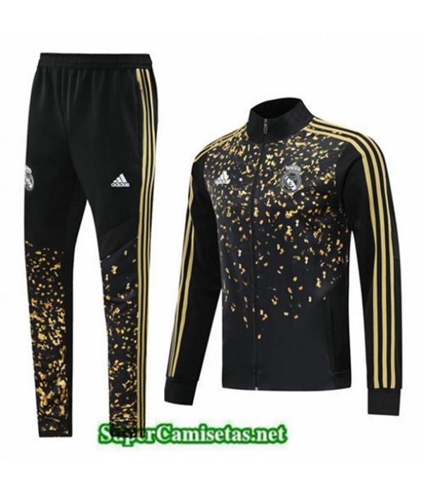 Tailandia Chaqueta Chandal Real Madrid Q026 Edición Negro/amarillo 2019/20