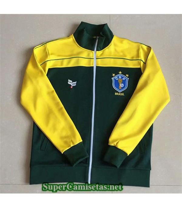 Tailandia Chaqueta Equipacion Camiseta Clasicas Brasil 1982