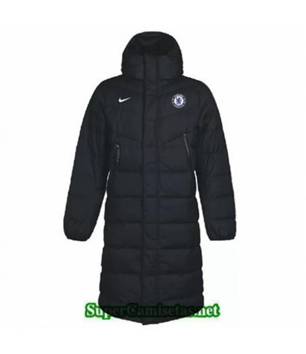 Tailandia Camiseta Chelsea Abrigo Acolchado Largo Negro 2019/20