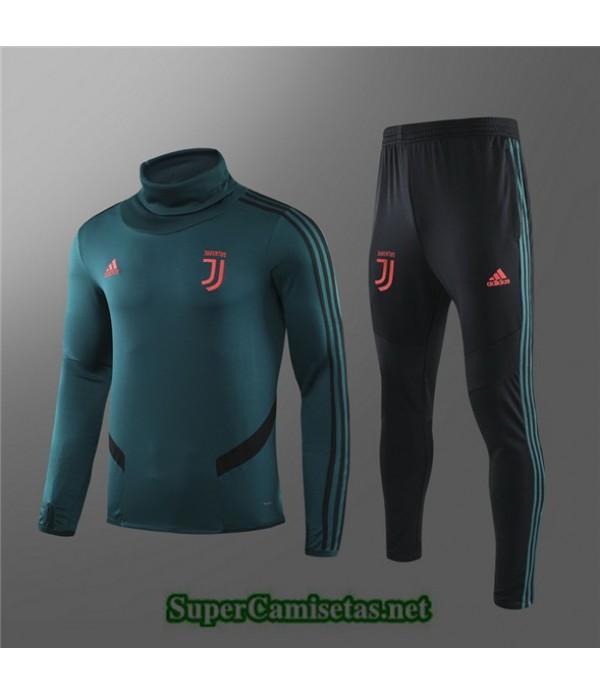 Tailandia Chandal Niños Juventus 03s59 Verde Militar Cuello Alto 2019/20