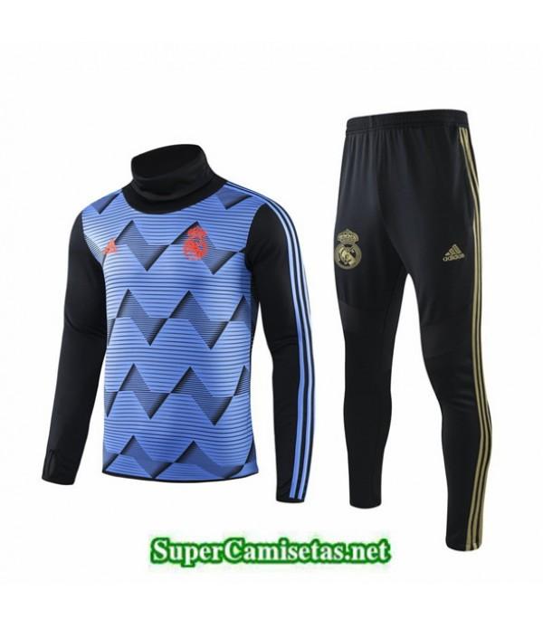 Tailandia Chandal Real Madrid 03s49 Azul Distrito Cuello Alto 2019/20