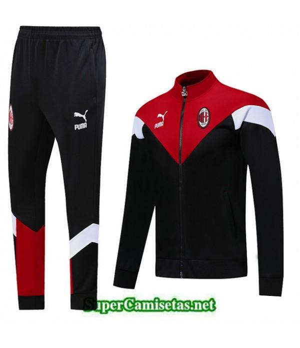 Tailandia Chaqueta Chandal Ac Milan 03s01 Negro/rojo/blanco 2019/20