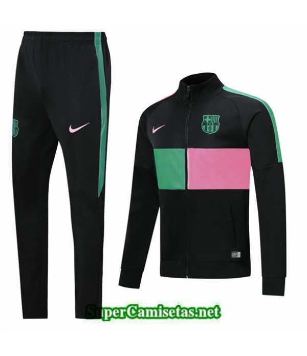 Tailandia Chaqueta Chandal Barcelona 03s17 Negro/rosa/verde 2019/20