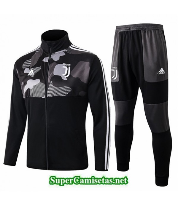 Tailandia Chaqueta Chandal Juventus 03s30 Negro Cuello Alto 2019/20
