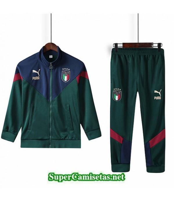 Tailandia Chaqueta Chandal Niños Italia 03s58 Verde Militar/azul 2019/20