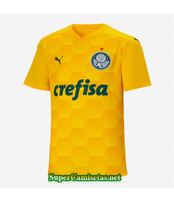 Tailandia Primera Equipacion Camiseta Palmeiras Portero Amarillo 2020/21