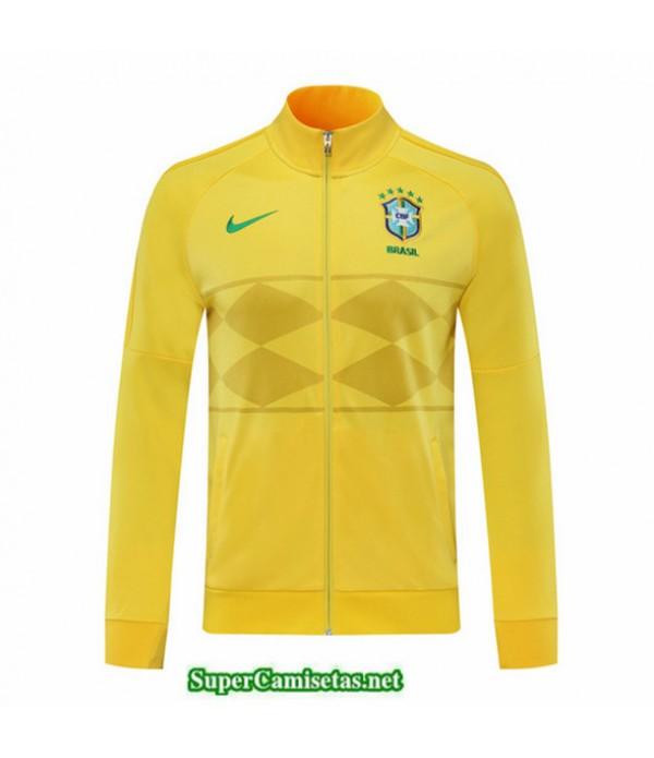 Tailandia Camiseta Brasil Chaqueta Amarillo 2020/21