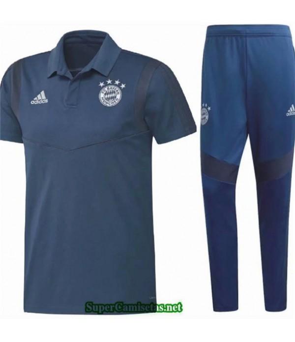 Tailandia Camiseta Kit De Entrenamiento Bayern Munich Azul Marino 2020/21