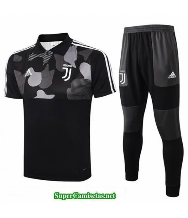Tailandia Camiseta Kit De Entrenamiento Juventus Polo Negro 2020/21