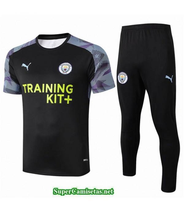 Tailandia Camiseta Kit De Entrenamiento Manchester City Negro/violet 2020/21