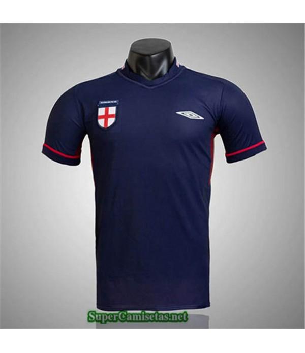 Tailandia Camisetas Clasicas Inglaterra Azul Marino Hombre 2002