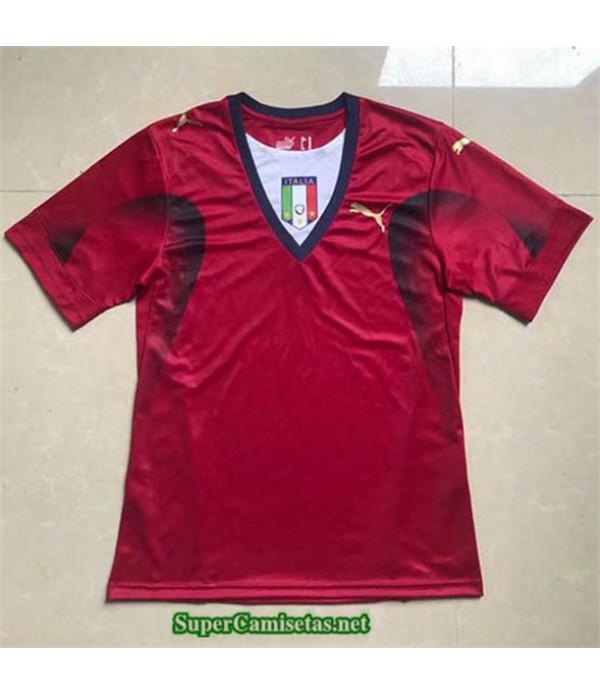 Tailandia Camisetas Clasicas Italia Rojo Portero Hombre 2006