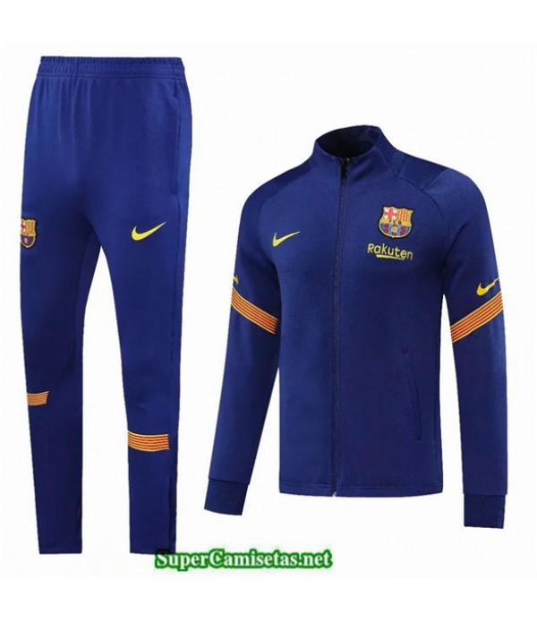 Tailandia Chaqueta Chandal Barcelona Azul Marino 2020/21
