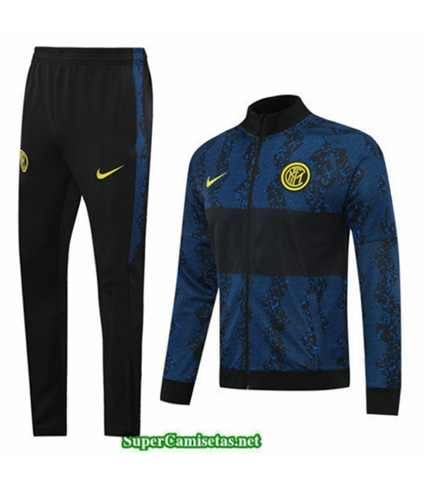 Tailandia Chaqueta Chandal Inter Milan Negro/azul 2020/21
