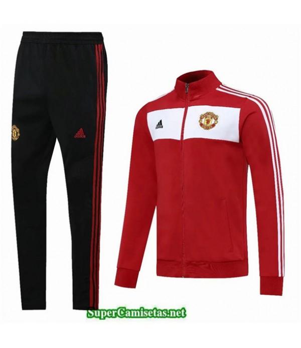 Tailandia Chaqueta Chandal Manchester United Rojo/blanco/negro 2020/21