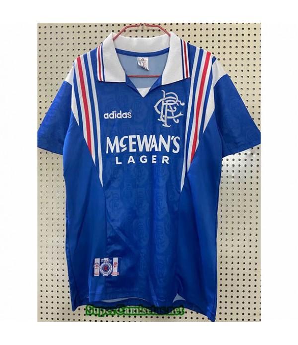 Tailandia Primera Camisetas Clasicas Rangers Hombre 1996 97