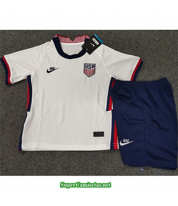 Tailandia Primera Equipacion Camiseta Usa Enfant Blanco 2020/21