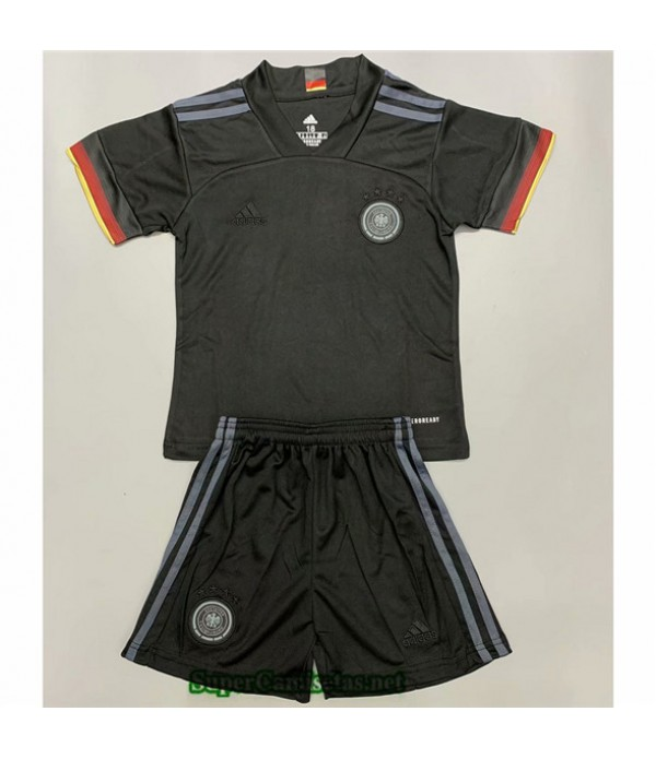 Tailandia Segunda Equipacion Camiseta Alemania Niños Negro 2020/21