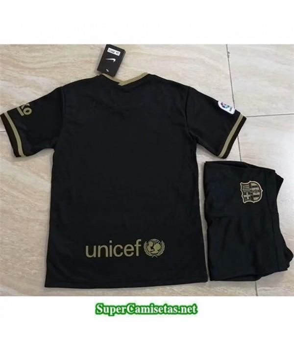 Tailandia Segunda Equipacion Camiseta Barcelona Niños Negro/dorado 2020/21