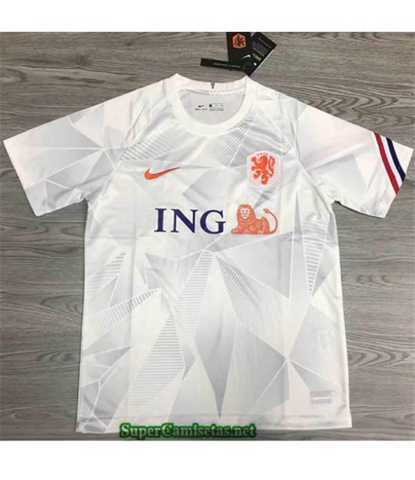 Tailandia Segunda Equipacion Camiseta Países Bajos Blanco 2020/21