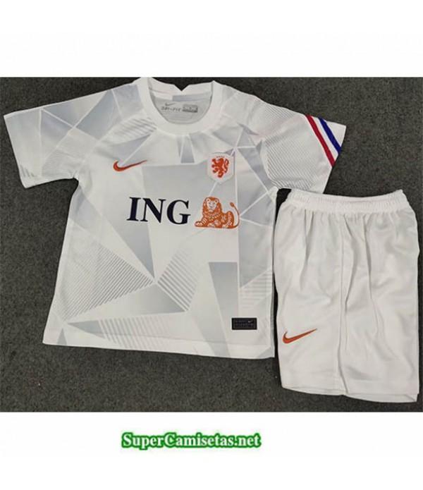 Tailandia Segunda Equipacion Camiseta Países Bajos Niños Blanco 2020/21