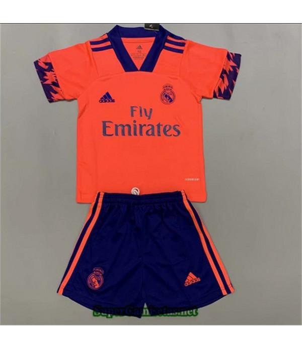 Tailandia Segunda Equipacion Camiseta Real Madrid Niños Naranja 2020/21