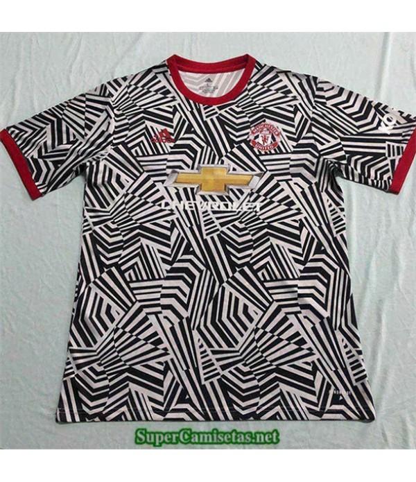 Tailandia Pre Match Equipacion Camiseta Manchester United Negro/blanco 2020/21