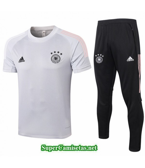 Tailandia Camiseta Kit De Entrenamiento Alemania Gris Claro 2020/21