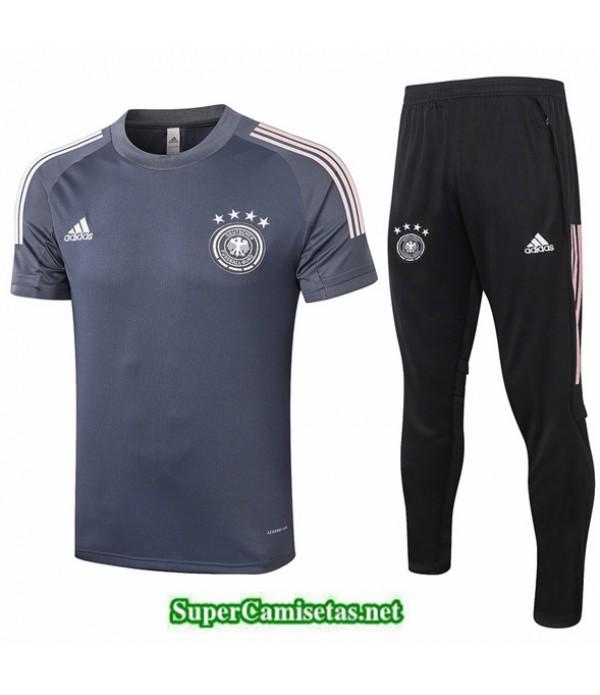 Tailandia Camiseta Kit De Entrenamiento Alemania Gris Oscuro 2020/21