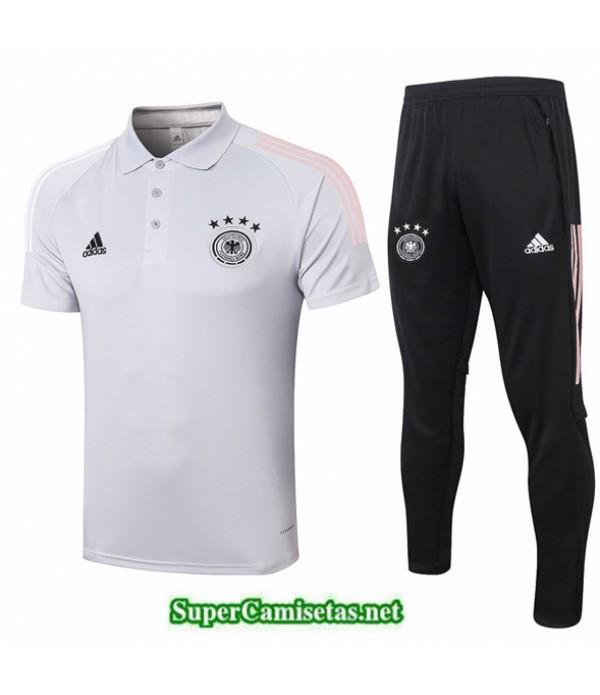Tailandia Camiseta Kit De Entrenamiento Alemania Polo Gris Claro 2020/21