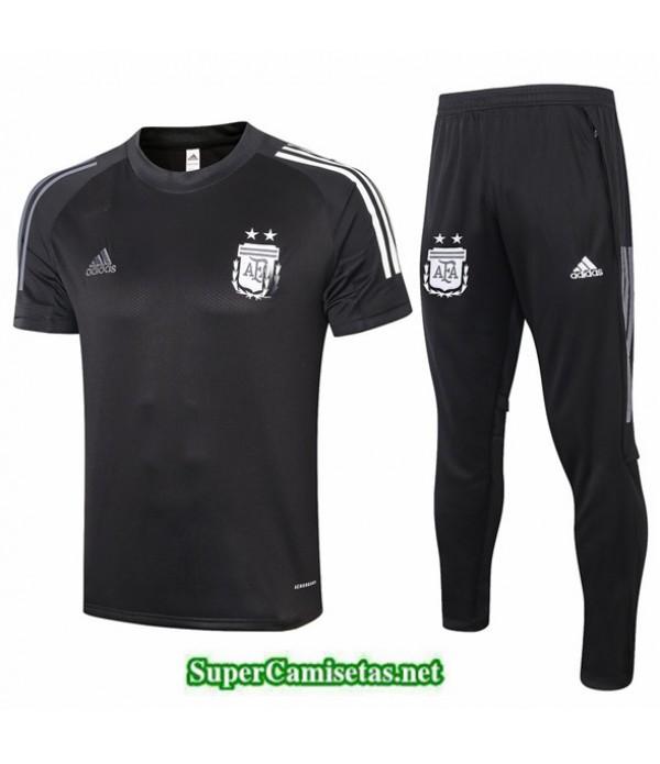 Tailandia Camiseta Kit De Entrenamiento Argentina Negro 2020/21