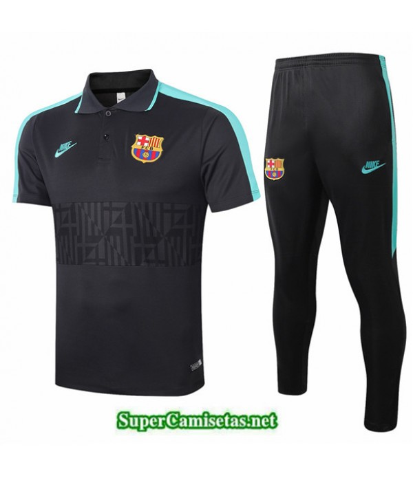 Tailandia Camiseta Kit De Entrenamiento Barcelona Polo Negro/negro 2020/21