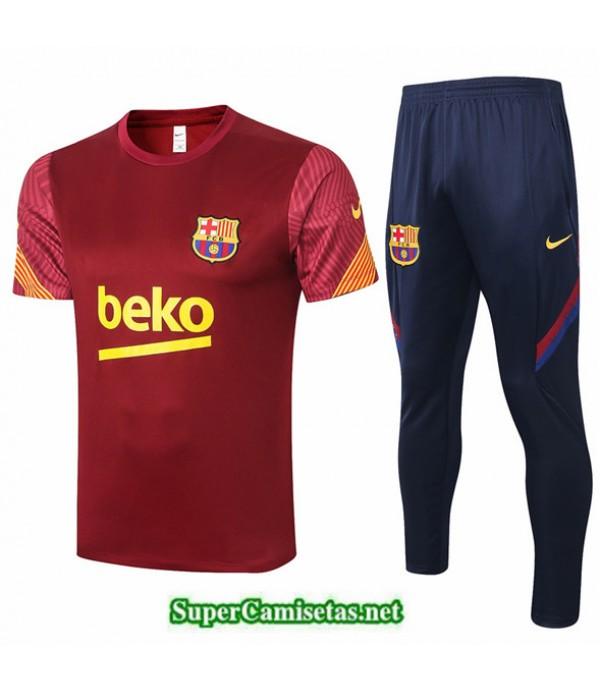 Tailandia Camiseta Kit De Entrenamiento Barcelona Rojo Oscuro 2020/21