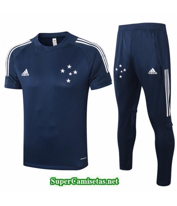 Tailandia Camiseta Kit De Entrenamiento Cruzeiro Azul Oscuro 2020/21
