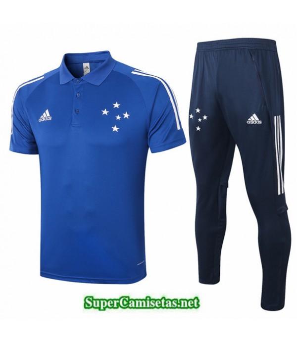 Tailandia Camiseta Kit De Entrenamiento Cruzeiro Polo Azul 2020/21