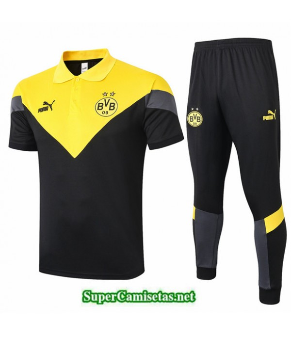 Tailandia Camiseta Kit De Entrenamiento Dortmund Polo /amarillo 2020/21