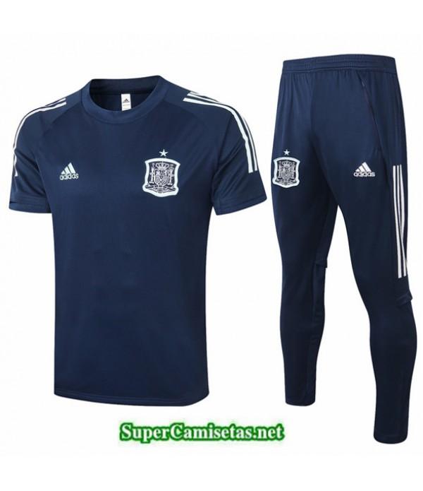 Tailandia Camiseta Kit De Entrenamiento Espana Azul Oscuro 2020/21