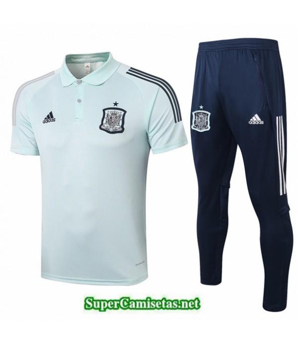 Tailandia Camiseta Kit De Entrenamiento Espana Polo Verde Claro 2020/21