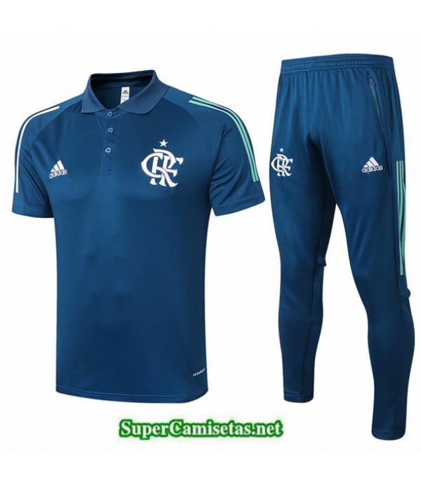 Tailandia Camiseta Kit De Entrenamiento Flamengo Polo Azul Oscuro 2020/21