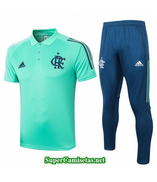 Tailandia Camiseta Kit De Entrenamiento Flamengo Polo Verde 2020/21