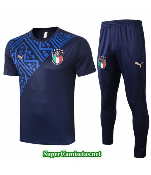 Tailandia Camiseta Kit De Entrenamiento Italia Azul Oscurocuello Redondo 2020/21