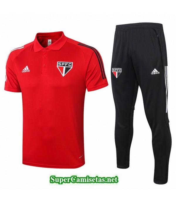 Tailandia Camiseta Kit De Entrenamiento São Paulo Polo Rojo 2020/21