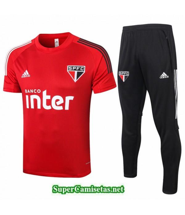 Tailandia Camiseta Kit De Entrenamiento São Paulo Rojo 2020/21