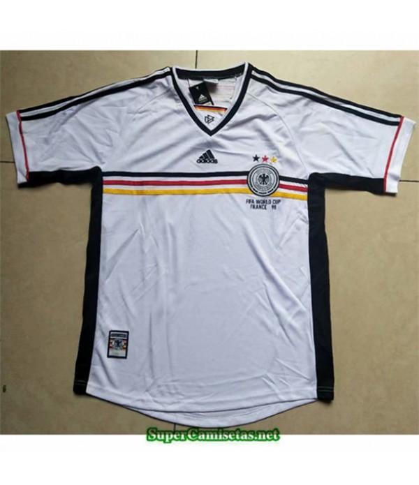 Tailandia Camisetas Clasicas Alemania Blanco Hombre 1998