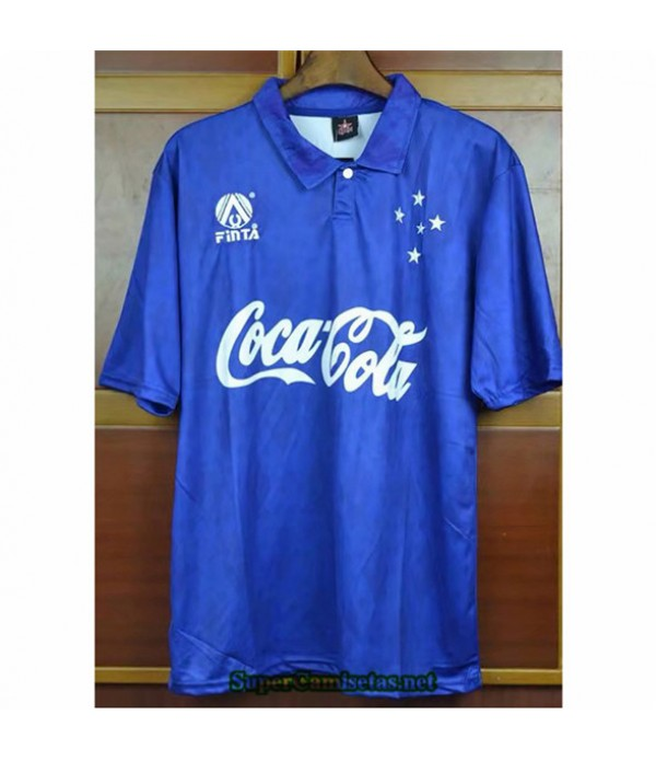 Tailandia Camisetas Clasicas Hombre Cruzeiro Azul