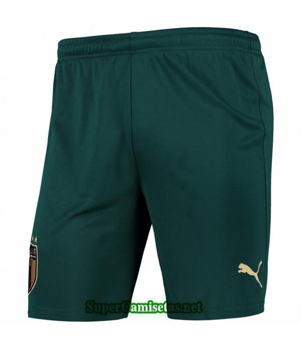 Tailandia Camisetas Italia Pantalones Verde Oscuro 2020/21